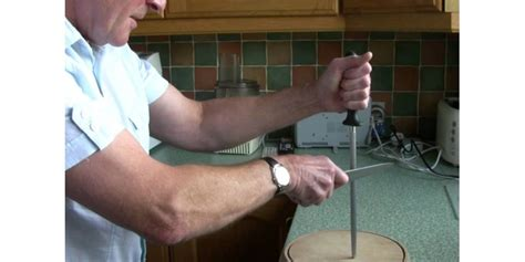 sharpen a knife with a steel how to sharpen a knife with a steel