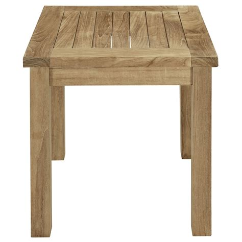 Teak Side Table Teak Side Table Modern Furniture Brickell Collection