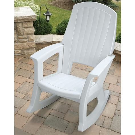 white resin outdoor furniture semco plastics white resin outdoor patio rocking chair semw rural king