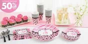 pink baby shower decorations pink safari baby shower supplies city canada