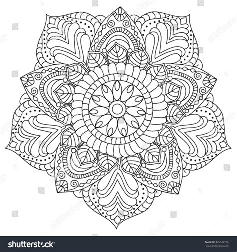 mandala coloring pages vector mandala coloring page illustration stock vector 445542736