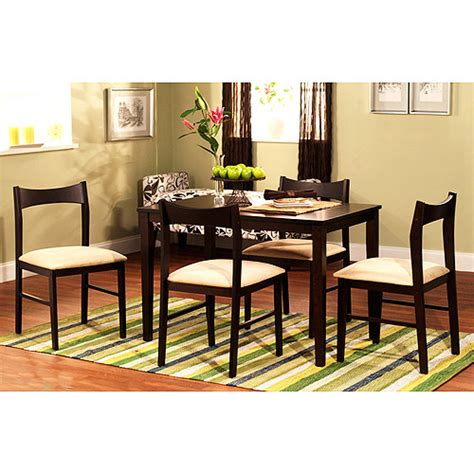 walmart dining room sets contemporary 5 dining set espresso walmart