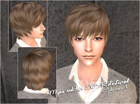 download hair male the sims 2 mod the sims myos male hair no 23 26 retextured