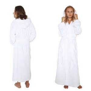 hooded bathrobe mens womens turkish cotton terry long full