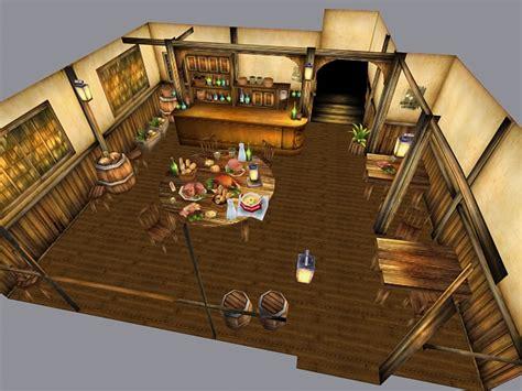 medieval restaurant interior  model ds max files