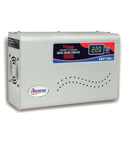 Ac Voltage Stabilizer microtek em4170d voltage stabilizer for ac upto 1 5 ton