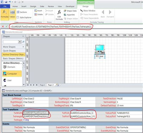 visio display editing and resizing the textbox of a visio 2010 shape