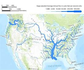 river maps proper course american rivers