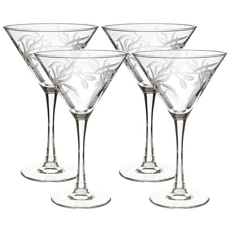 martini glass with olive rolf glass olive branch clear 10 oz martini glass set of