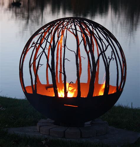 sphere pit winter woods pit sphere design your own the