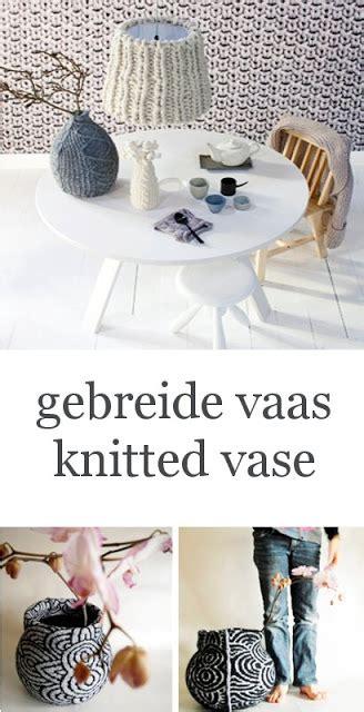 vt wonen gebreide l maandag meubels vaas van scheerwol