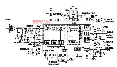 integrated circuit power supply ha1137w the fm if integrated circuit power supply circuit circuit diagram seekic