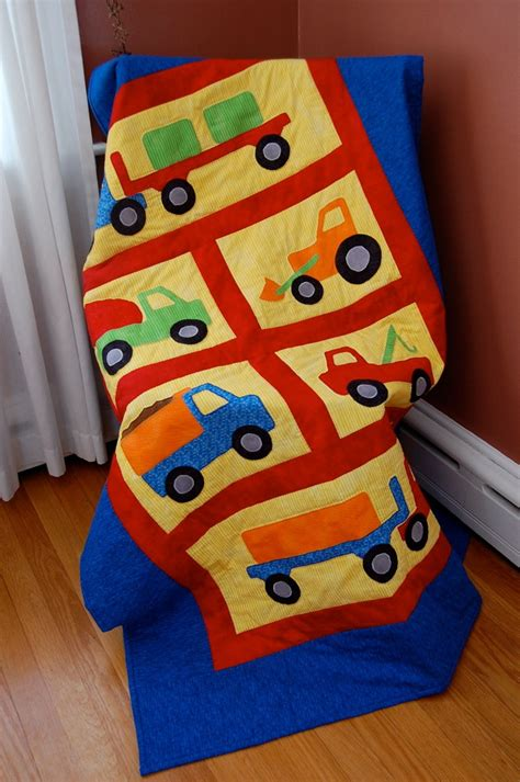 construction toddler bedding construction vehicle quilt toddler bedding primary colors