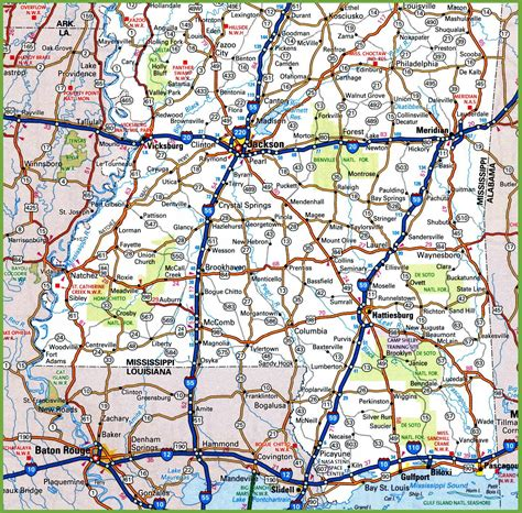 map of southern mississippi