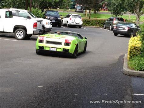 Lamborghini Portland Lamborghini Gallardo Spotted In Portland Oregon On 07 21 2012