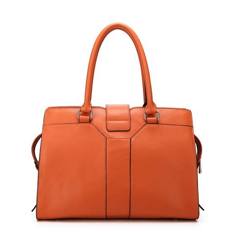 Cowhide Leather Handbags cowhide leather handbag orange
