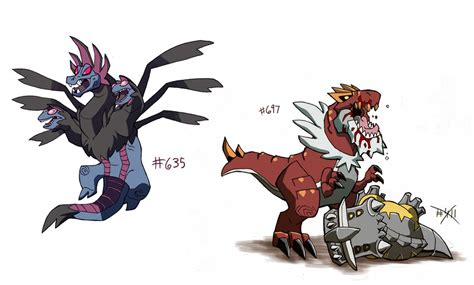 chibi garchomp pyroar by darica89 hydreigon and tyrantrum by chief orc on deviantart