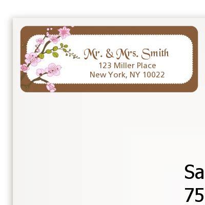 Bridal Address by Blossom Bridal Shower Return Address Labels Bridal