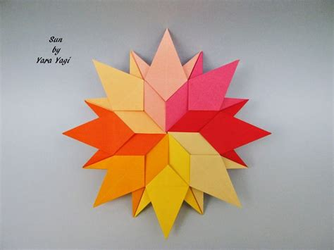 Sun Origami - 17 best images about flower on