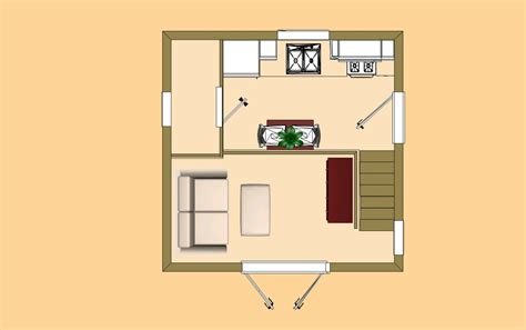 cozy cube small house floor plan cozy home plans
