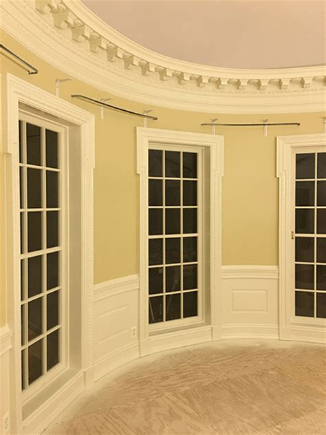 oval office layout curved wainscoting pictures from oval office design llc