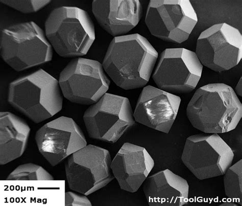 high magnification images  quality diamond particles