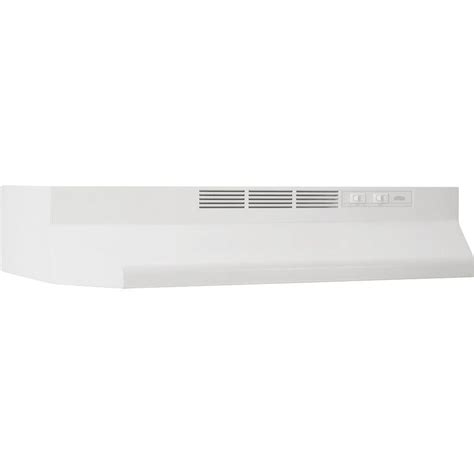 white range hood under cabinet nutone rl6200 24 in non vented range hood in white