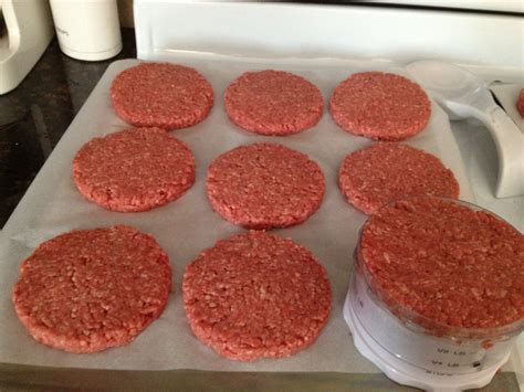 How To Make A Paper Hamburger - save time and money make your own preformed frozen burger