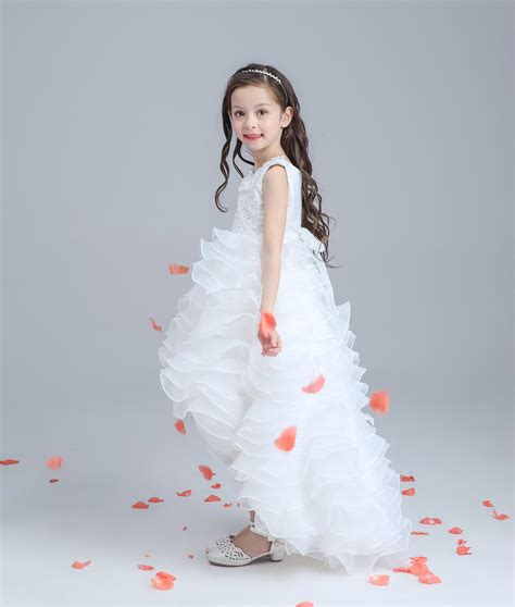 design flower girl dresses 2016 new child dresses design flower girl dresses pearl