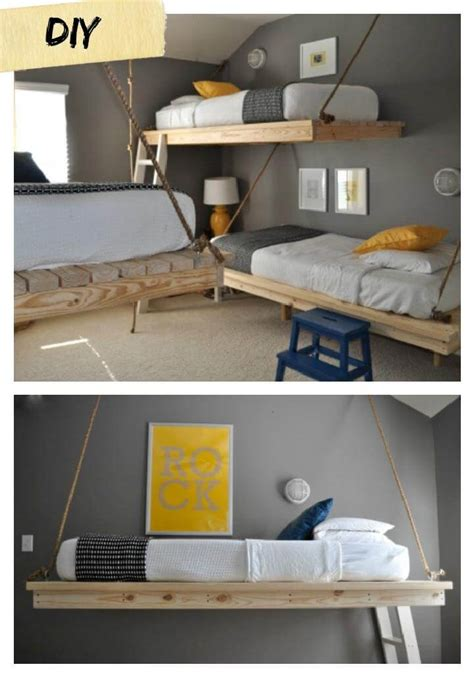 diy hanging bed diy rope projects and crafts 100 cool things to make