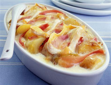 recette cuisine femme actuelle tartiflette au jambon de savoie recettes femme actuelle