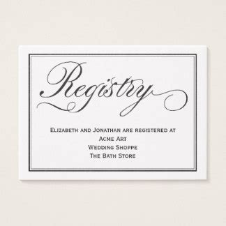 bridal shower registry card template wedding business cards templates zazzle