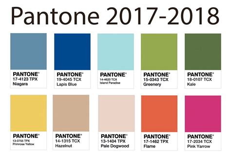color trends 2017 2018 with pantone back to brain