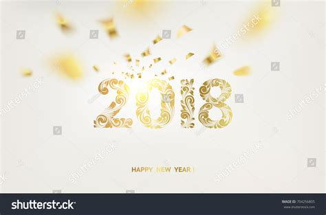 2018 International New Years Cards Templates by Happy New Year Card Gray Stock Vector 704256805