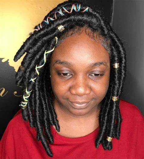 Black Hairstyles For Medium Hair Locs by 20 And Creative Ideas For Faux Locs