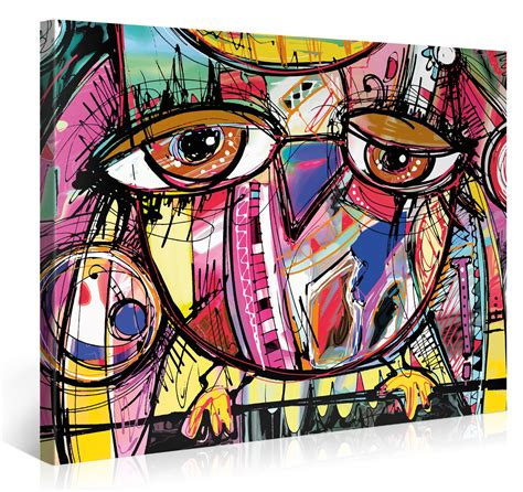 doodle deco picture holder large canvas print wall owl doodle 40x30 inch