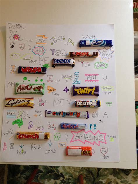 Plakat Z Batonami by Chocolate Bar Names In Sentences Lol