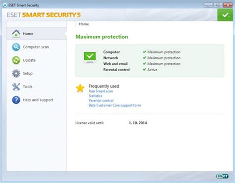 free 6 months trial of eset smart security home edition