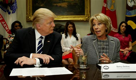 betsy devos record education secretary betsy devos admits the climate