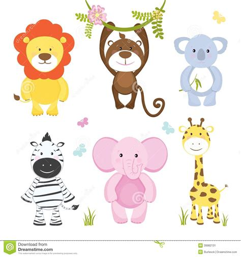 Cute Baby Animals Cartoon Monkey