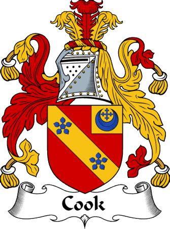 aaron carter haverhill englishgathering the cook coat of arms family crest