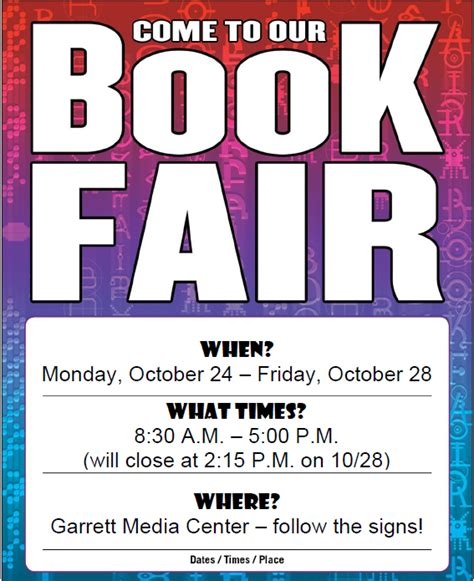 Scholastic Book Fair Flyer Template scholastic book fair flyer