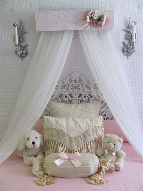 vintage style bedding and curtains princess bed crown canopy crib baby nursery decor shabby