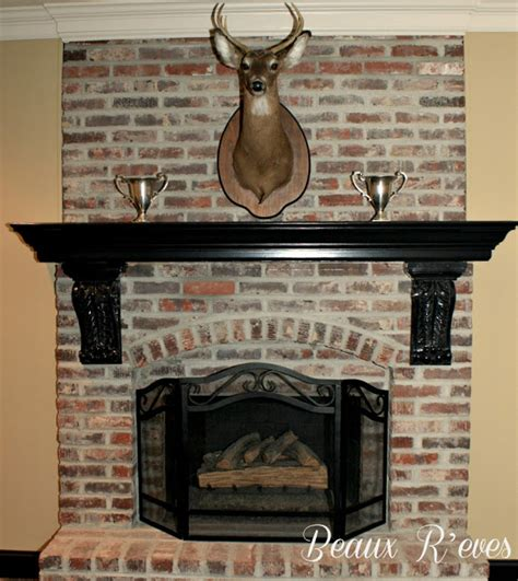 How To Age Brick Fireplace interior delectable image of home interior decoration