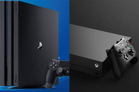 ps4 console vs xbox one xbox one x vs ps4 pro console war sony could be eyeing