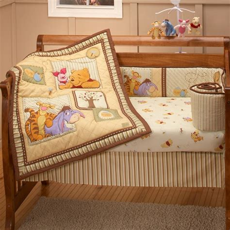 Winnie The Pooh Nursery Bedding Set Disney Baby Dreams Of Hunny 4 Crib Bedding Set At Hayneedle