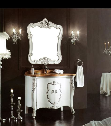 Handmade Bathroom Furniture - italian handmade luxurious bathroom furniture silver leaf