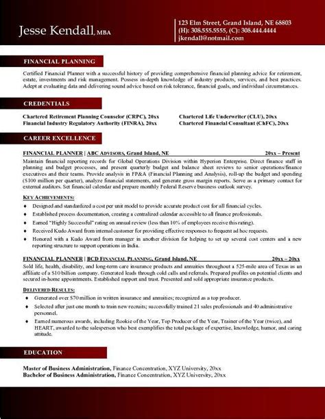 financial advisor resume exles 37 best images about zm sle resumes on