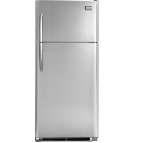 lowe s rebates dept number home appliances refrigerators frigidaire gallery fght1832p 18 3 cu ft top freezer energy