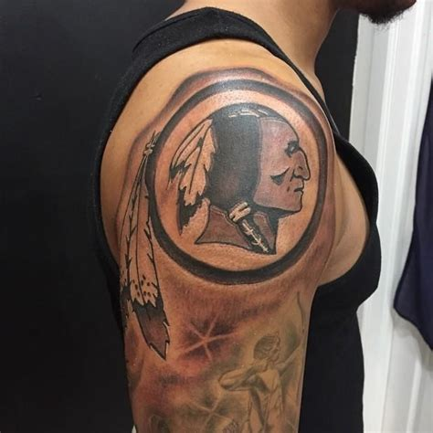 washington dc tattoo designs black circular washington redskins ideas